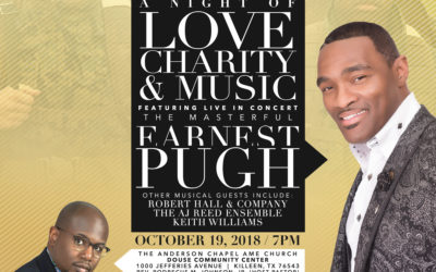 Join VER, Earnest Pugh, and Friends October 19, 2018 for A Night of Love, Charity, & Music (REGISTER NOW)